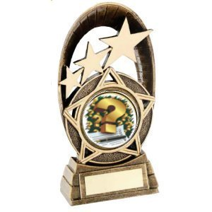 RF712 Tri Star Oval Holder Trophy